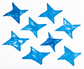 simple ornament from four-pointed shaped stars