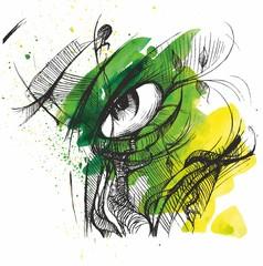 human eye. view