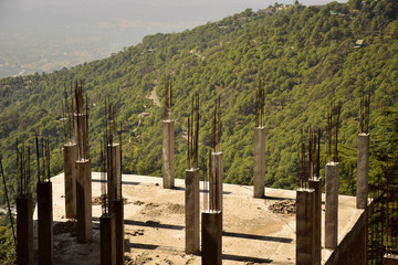 Building construction in hilly areas