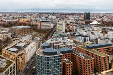 Views of the different streets of Berlin in December, before Christmas