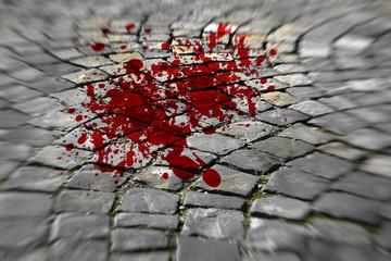 Blut auf der Straße - Blood on the street