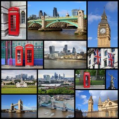 London UK collage