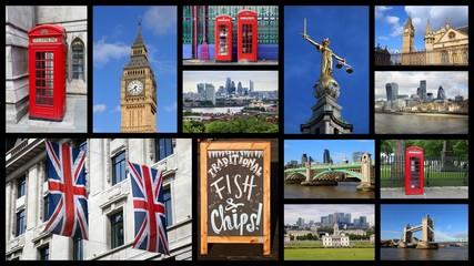 London panoramic postcard