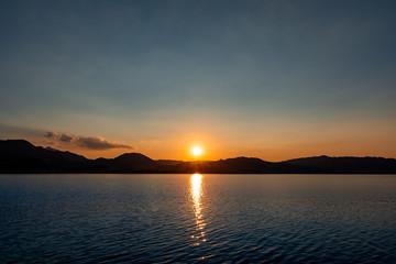 Mountain lake sunset Austria