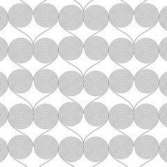 Abstract geometric pattern with spirals, A seamless vector background, Graphic modern pattern