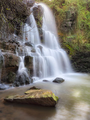 Waterfall on a magic isolated place