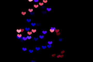 Background of hearts bokeh.