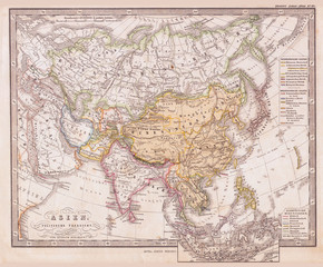 1862, Perthes Map of Asia