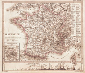 1862, Perthes Map of France