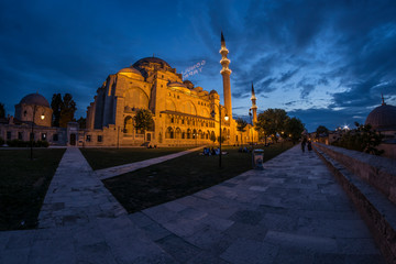 Sülemaniye Mosque at the blue hour.