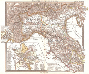 1865, Spruner Map of Northern Italy in Antiquity