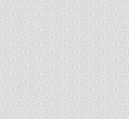 Japanese Kiku Chrysanthemum floral vector seamless pattern. Japan chrysanthemums blossom garden texture design.
