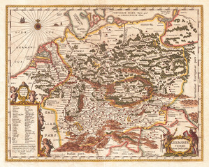 1657, Jansson Map of Germany, Germania