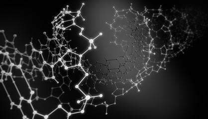 DNA Model - grau - schwarzweiß