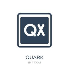 quark icon vector on white background, quark trendy filled icons