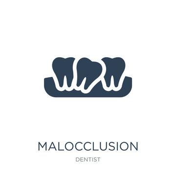 malocclusion icon vector on white background, malocclusion trend
