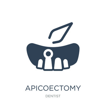 apicoectomy icon vector on white background, apicoectomy trendy