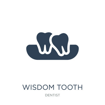 wisdom tooth icon vector on white background, wisdom tooth trend