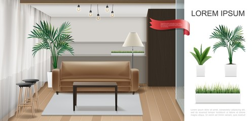 Realistic Home Interior Template
