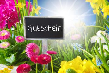 Sunny Spring Flower Meadow, Gutschein Means Voucher