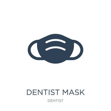 dentist mask icon vector on white background, dentist mask trend