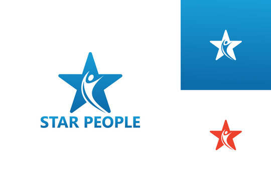 Star People Logo Template Design Vector, Emblem, Design Concept, Creative Symbol, Icon