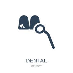 dental icon vector on white background, dental trendy filled ico