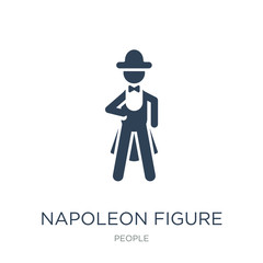 napoleon figure icon vector on white background, napoleon figure