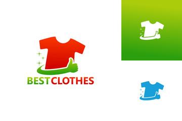 Best Clothes Logo Template Design Vector, Emblem, Design Concept, Creative Symbol, Icon