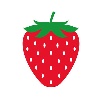 Strawberry colored icon. Vector