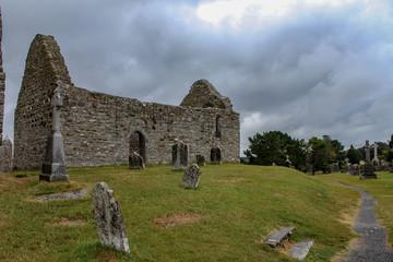 ruins of Clonmacnoise monastery, Ireland