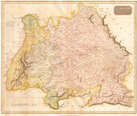 1814, Thomson Map of Bavaria, Germany, John Thomson, 1777 - 1840, was a Scottish cartographer from Edinburgh, UK