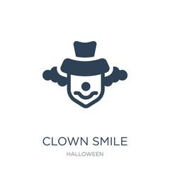clown smile icon vector on white background, clown smile trendy