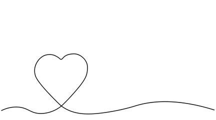 Heart background, valentines day banner vector illustration.