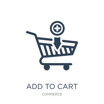 add to cart icon vector on white background, add to cart trendy