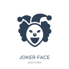 joker face icon vector on white background, joker face trendy fi