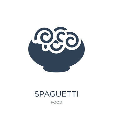 spaguetti icon vector on white background, spaguetti trendy fill