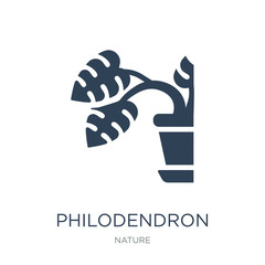 philodendron icon vector on white background, philodendron trend