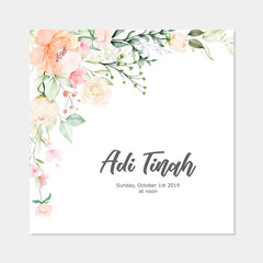 Floral frame watercolor multi-purpose background