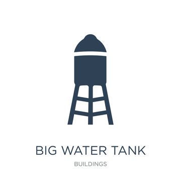 big water tank icon vector on white background, big water tank t