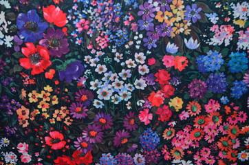Polyester - Gewebe - Hintergrund, florales Design
