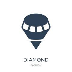 diamond icon vector on white background, diamond trendy filled i