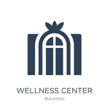 wellness center icon vector on white background, wellness center