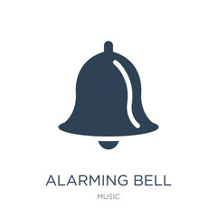 alarming bell icon vector on white background, alarming bell tre