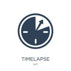 timelapse icon vector on white background, timelapse trendy fill