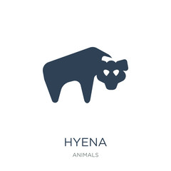 hyena icon vector on white background, hyena trendy filled icons