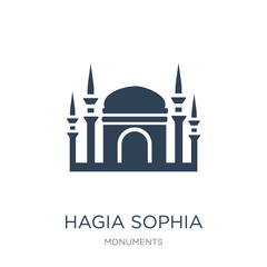 hagia sophia icon vector on white background, hagia sophia trend