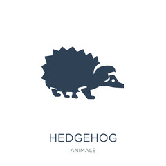 hedgehog icon vector on white background, hedgehog trendy filled