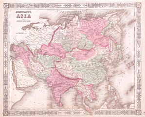1864, Johnson's Map of Asia