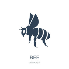 bee icon vector on white background, bee trendy filled icons fro